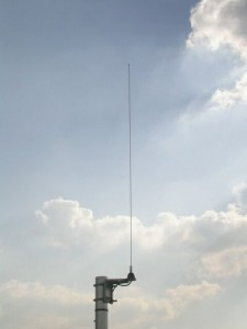 Example of Pole mounted half-wave whip